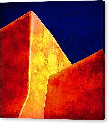 Ranchos In Orange And Yellow Canvas Print by Carol Leigh
