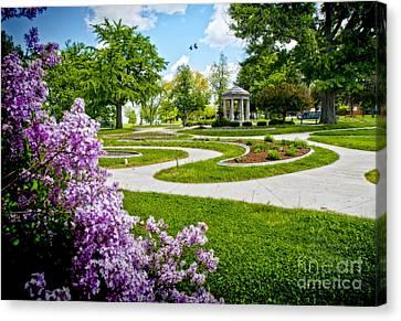 Rand Park Flower Garden Canvas Print by Ed Vinson