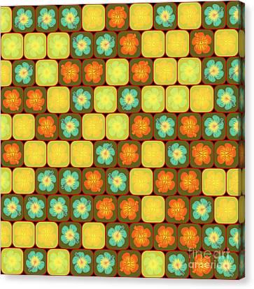 Random Hibiscus Pattern Canvas Print by Gaspar Avila