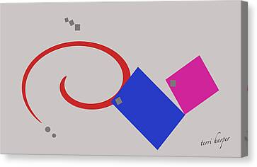 Canvas Print featuring the photograph Randomness Variations 1 by Terri Harper