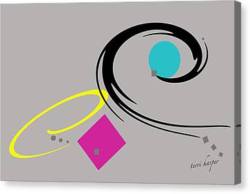 Canvas Print featuring the  Randomness Variations 2 by Terri Harper