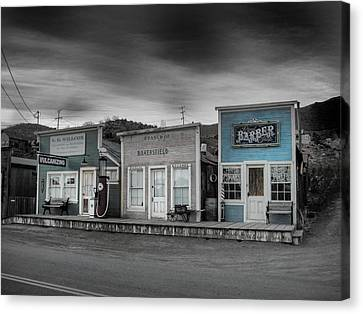 Randsburg Gas Station And Shops Canvas Print