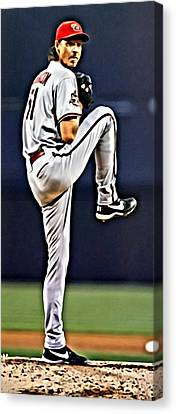Diamondbacks Canvas Print - Randy Johnson by Florian Rodarte