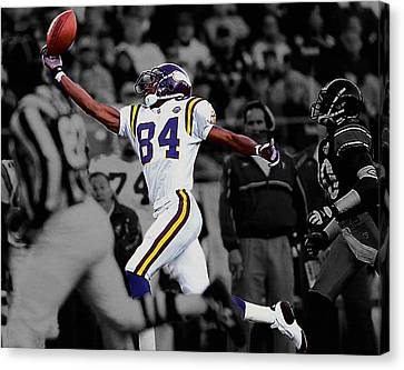 Randy Moss Canvas Print by Brian Reaves