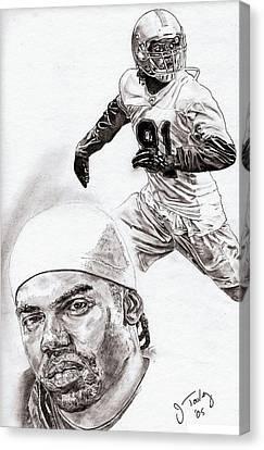 Randy Moss Canvas Print - Randy Moss by Jonathan Tooley