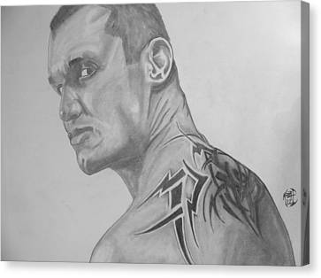 Canvas Print featuring the drawing Randy Orton by Justin Moore