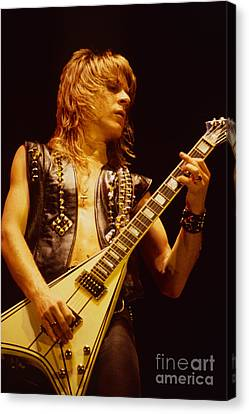 Randy Rhoads At The Cow Palace In San Francisco Canvas Print