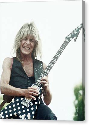 Daniel Canvas Print - Randy Rhoads New Release At The Green In Oakland-july 4th 1981 by Daniel Larsen