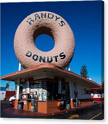 Randy's Donuts Canvas Print by Stephen Stookey