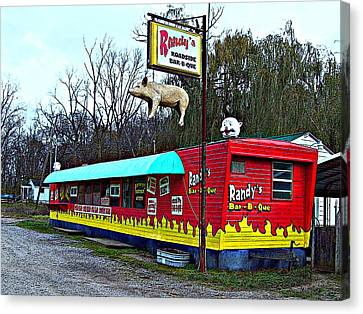 Randy's Roadside Bar-b-que Canvas Print by MJ Olsen