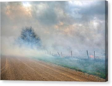 Range Burning Canvas Print by JC Findley