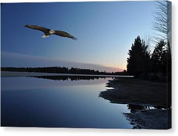 Rangeline Lake Canvas Print by RJ Martens