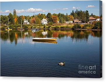 Rangely Lake In Fall Canvas Print