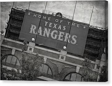 Rangers Ballpark In Arlington Canvas Print by Joan Carroll