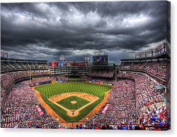 Rangers Ballpark In Arlington Canvas Print by Shawn Everhart