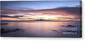 Auckland Canvas Print - Rangitoto Before Dawn Auckland New Zealand by Colin and Linda McKie