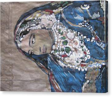 Canvas Print featuring the painting Rani by Vikram Singh