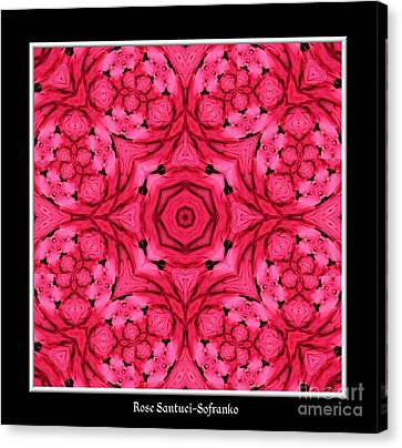 Canvas Print featuring the photograph Ranunculus Flower Warp by Rose Santuci-Sofranko