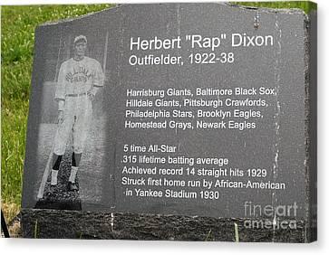 Negro Leagues Canvas Print - Rap Dixon by Paul W Faust -  Impressions of Light