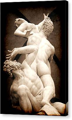 Rape Of The Sabines In Florence Canvas Print