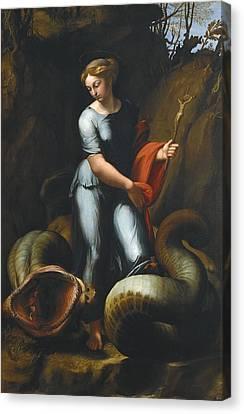 Raphael 1483-1520. Saint Margaret Canvas Print by Everett