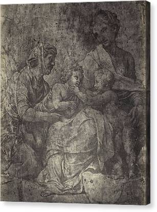 Raphael Drawing From Windsor Castle, Mary With Jesus Canvas Print by Artokoloro