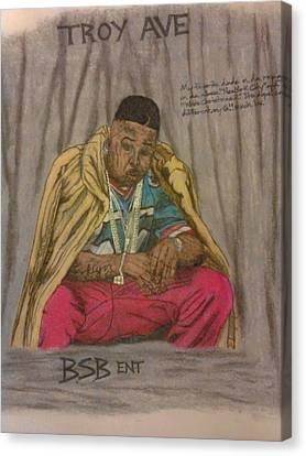 Rapper Troy Ave Canvas Print by Brandon Crawford