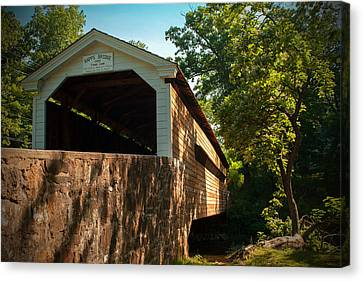 Rapps Covered Bridge Canvas Print by Michael Porchik