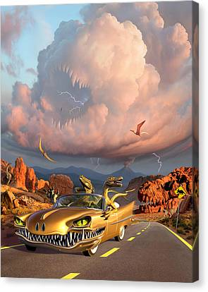 Rapt Patrol Canvas Print by Jerry LoFaro