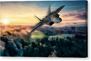 Raptor Sunset Canvas Print by Peter Chilelli