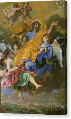 Rapture Of Saint Joseph Canvas Print by French School