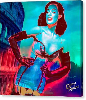 Rapturous In Rome Canvas Print by Diana Riukas