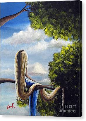 Rapunzel Canvas Print - Rapunzel Original Artwork From My Acrylic Painting by Shawna Erback