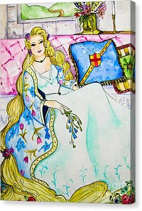Rapunzel - Fairy Tale Art Canvas Print