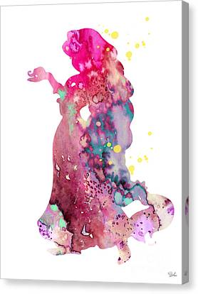 Rapunzel Canvas Print - Rapunzel by Watercolor Girl