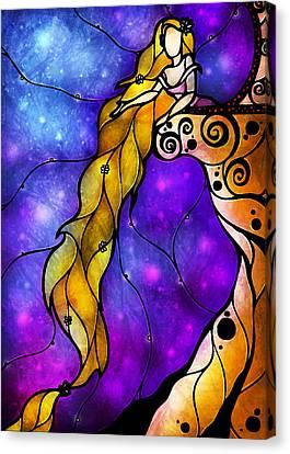 Rapunzel Canvas Print by Mandie Manzano