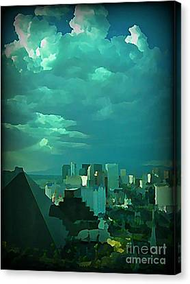 Rare Clouds Over Vegas Canvas Print by John Malone