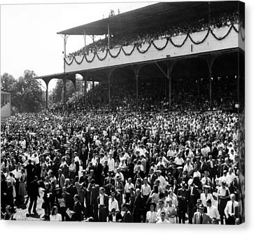 Rare Deutsches Derby In Germany Horse Racing Canvas Print by Retro Images Archive