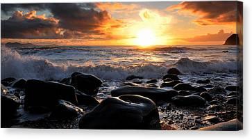 Rare Irish Sunset Canvas Print by Florian Walsh