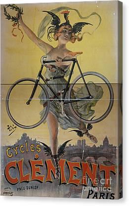 Rare Vintage Paris Cycle Poster Canvas Print by Edward Fielding