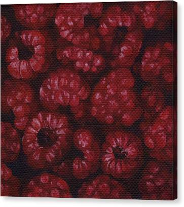 Canvas Print featuring the painting Raspberries by Natasha Denger