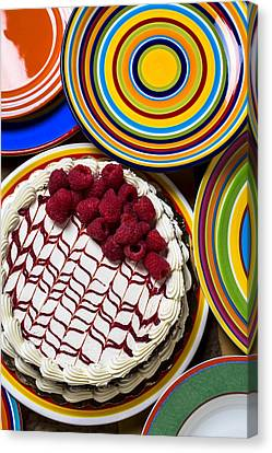 Raspberry Cake Canvas Print by Garry Gay