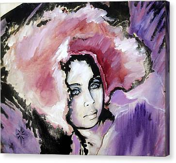 Canvas Print featuring the painting Raspberry Dreams by Jodie Marie Anne Richardson Traugott          aka jm-ART