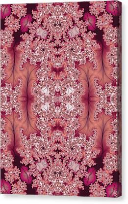 Canvas Print featuring the digital art Raspberry Dreams by Lea Wiggins