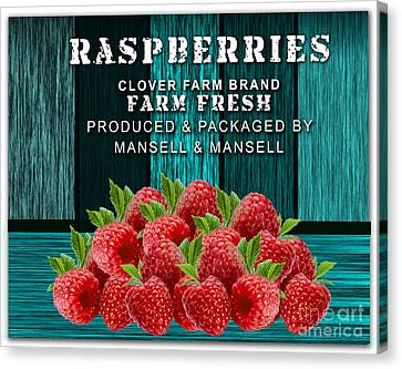 Raspberry Farm Canvas Print by Marvin Blaine
