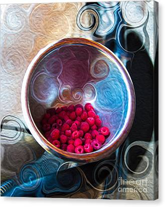 Raspberry Reflections Canvas Print by Omaste Witkowski