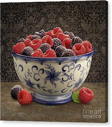 Raspberry Still Life Canvas Print