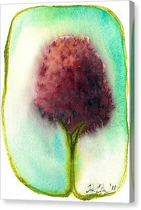 Raspberry Tree Canvas Print by Hilary Slater