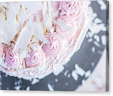 Raspberry White Chocolate Cake Canvas Print