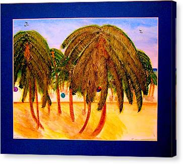 Rasta Palms Canvas Print